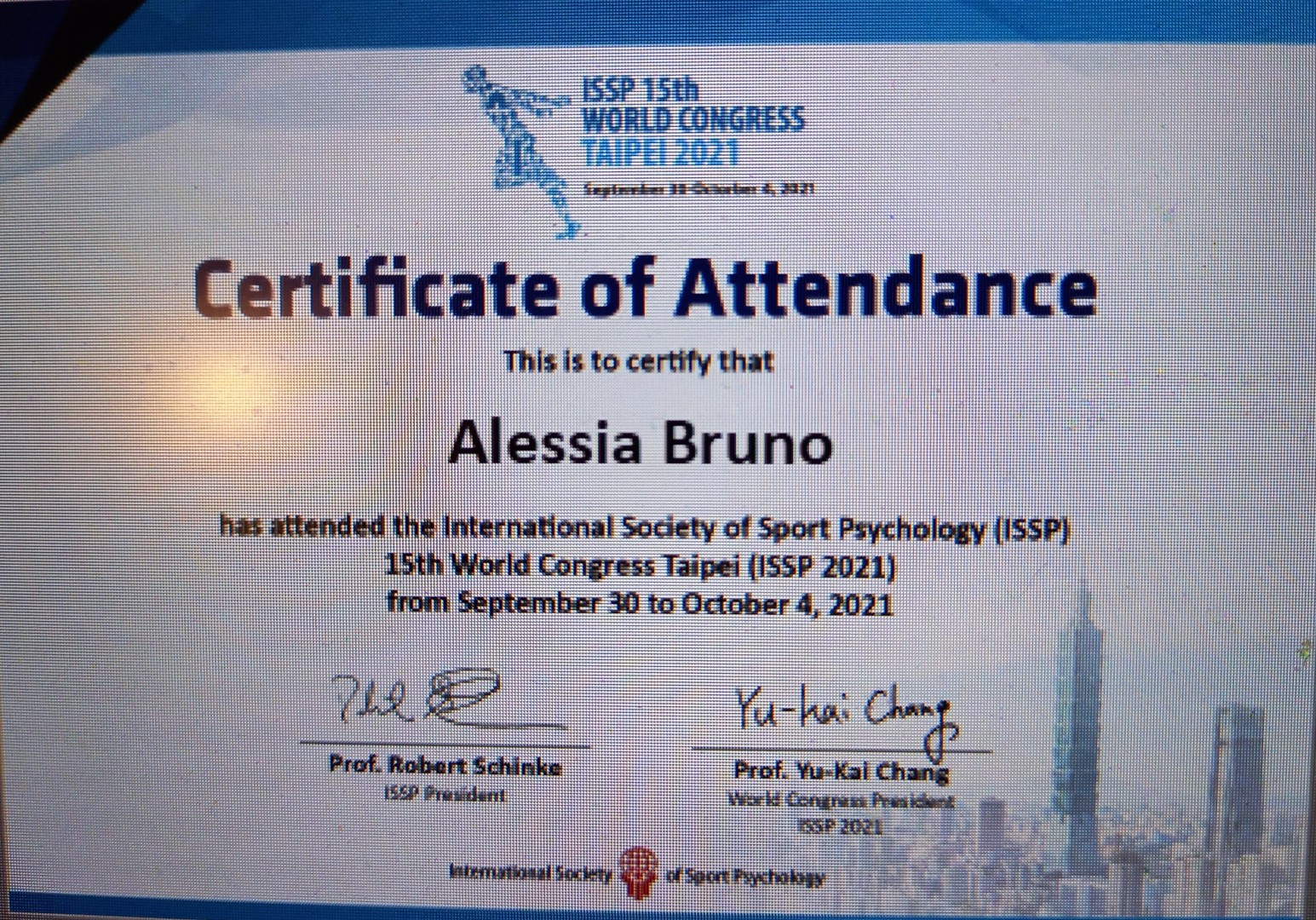 Sport World Congress Taipei 2021