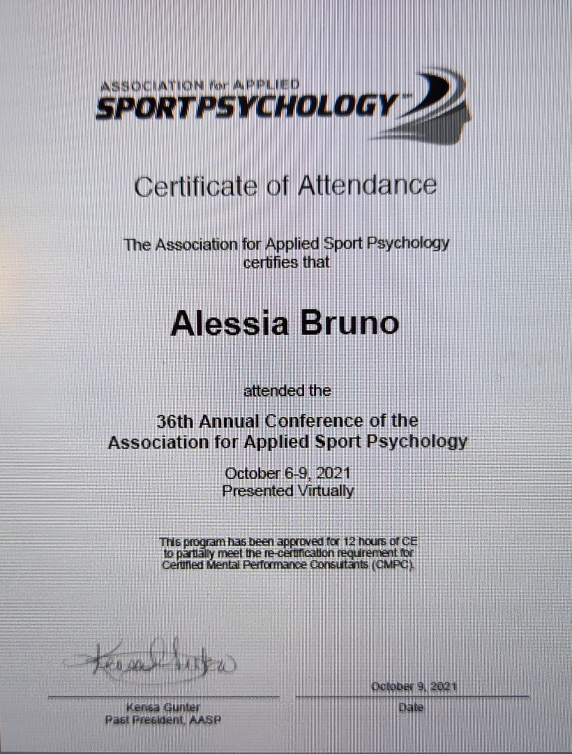 Attendance at the American Congress of Applied Sport Psychology